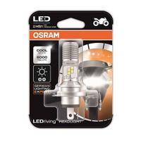 Lampu Motor LED OSRAM Putih 6000K HS1 H4 Hi Lo Kaki 3 Arus AC dan DC