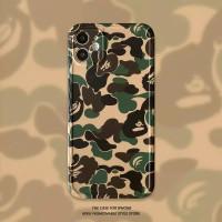 CASE IPHONE BAPE ARMY CAMO 7 8 PLUS X XS MAX 11 12 PRO MAX MINI