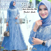 Baju Muslim Wanita Gamis Cewek Modern Atasan Dress Brokat Busui Jumbo