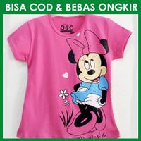 Kaos Anak Perempuan Minnie Senyum Pink Fanta   Baju Anak Mickey Mouse