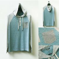 jaket Levis hodie t shirt raglan with pocket grey green100% ORI