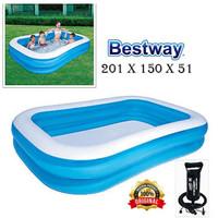 PROMO Bestway KOLAM Renang Anak & Keluarga 54346 BIRU 201x150x51cm