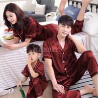 Piyama couple keluarga ibu ayah anak 1 satin silk exclusive 3 pcs