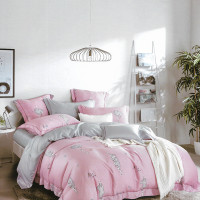 Sleep Buddy Set Sprei Pink Flawless Tencel - Single Size