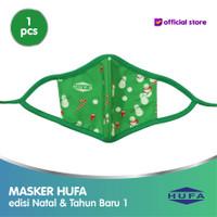 Masker Kain WaterProof HUFA Edisi Natal & Tahun Baru (ANAK)
