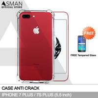 Anti Crack iPhone 7 Plus (5.5) | Softcase Anti Bentur + FREE TG