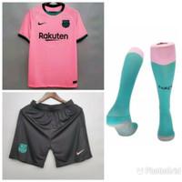 Jersey Baju Bola Fullset Full 1 Satu Set Barca 3rd Pink XXL 2020 2021