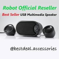 Robot RS170 USB Multimedia Speaker Komputer Stereo with LED