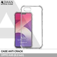 Casing Oppo A3S Softcase Anti Crack Elegant - Bening