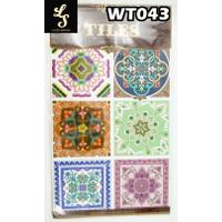 WT43 Wallpaper Tiles Sticker / Sticker Tegel