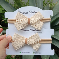Headband baby nylon USA/ bandana bayi/ cross lace bow