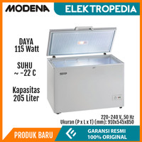 Modena - Chest Freezer 205L Dual Cooling System MD0206W