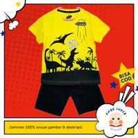 Baju anak laki-laki / Setelan anak laki-laki motif Dino Ufo 1-10 thn