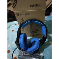 Headset gaming sades sa 806
