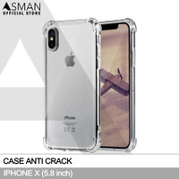 Softcase Anti crack Casing for iPhone X - Clear