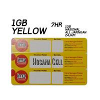 Voucher Paket Data Indosat Yellow 1GB 7hr