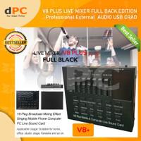 V8 Plus Full Black Edition Bluetooth Audio USB External Soundcard Live