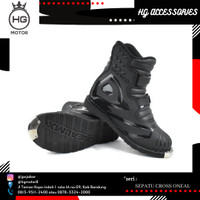 Sepatu oneal Rider Boot Us Shorty ATV Black sepatu motocross pendek