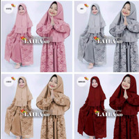 gamis anak perempuan / set Laila syar'i kids/baju muslim anak terbaru