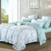 Sleep Buddy Set Sprei dan Bed Cover Leaf Greeny Tencel - Single Size