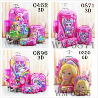 Tas Sekolah Troli Anak Trolley Anak TK SD Kuda Pony Pink Little Pony