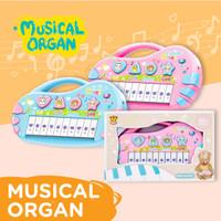 MAINAN MUSICAL ORGAN PIANO ANAK BAYI ANIMAL EDUKASI IMUNDEX