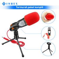 INBEX Paket SF-666 Kondenser Mikrofon/Mic Cover+Tripod