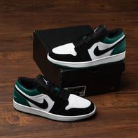 Sepatu Nike Air Jordan 1 White Black Mystic Green Premium BNIB Quality