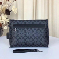 Tas Tangan Handbag Pria Coach Men Clutch Leather Original hitam motif