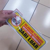 Papan Arkilik Tulisan Dilarang Membawa makanan dari luar