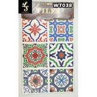 WT38 Wallpaper Tiles Sticker / Sticker Tegel