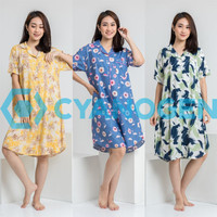 DRESS baju tidur piyama wanita dewasa cewek daster terusan motif - CONTOH MOTIF