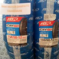 1 Set Ban Motor FDR City Go Uk. 100/90 - 110/90 Ring 12 Tubeless