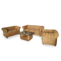 Silk&Cloud Chesterfield Set sofa - Brown