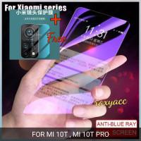blue light tempered glass mi 10T mi 10T pro non list free glass kamera