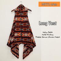 outer batik long vest long cardi katun