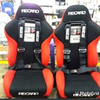 jok racing recaro power full kain+seftibel 4poin+ 2pcs real