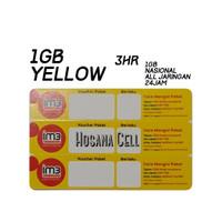 Voucher Paket Data Indosat Yellow 1GB 3hr