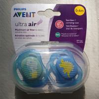 AVENT ultra air pacifier 0-6m BLUE / dot bayi / empeng
