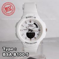 Jam tangan Wanita & anak Baby G BSAB-100 Pink Lilac navy cream putih - Putih