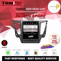 Head Unit Android Tomiko New Pajero Sport Tesla 12 4x2 Ram 4+64