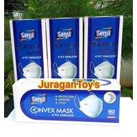 Masker Sensi Convex Mask 4ply evo plusmed isi 20 Termurah - Putih