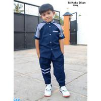 Setelan Baju Dan Celana Koko Anak Laki Laki /Pakaian Muslim Anak-dilan