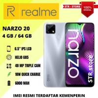 REALME NARZO 20 4/64 GB , REALME NARZO 20 4/128 GB GARANSI RESMI