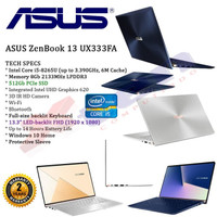 Laptop ASUS ZenBook UX333FA Intel core i5-8265U CPU 8GB /256 SSD