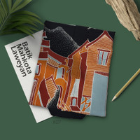 Kemeja Batik Tulis Abstrak Motif Arsitektur X07