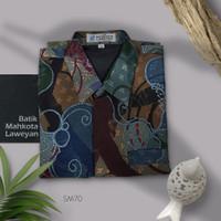 Kemeja Batik Tulis Abstrak Super Maestro SM70