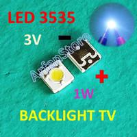 LED SMD 3535 3V 1W Backlight TV LCD Cold White 3537 Putih Cool Lumens
