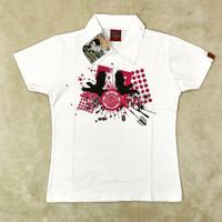 Kaos Berkerah - Atasan Wanita Warna Putih
