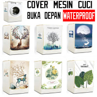 Cover Mesin Cuci Buka Depan / Pelindung Front Loading Waterproof PVC - Mystic